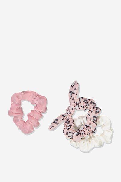 Mini Scrunchie, BLUSH DOBBY