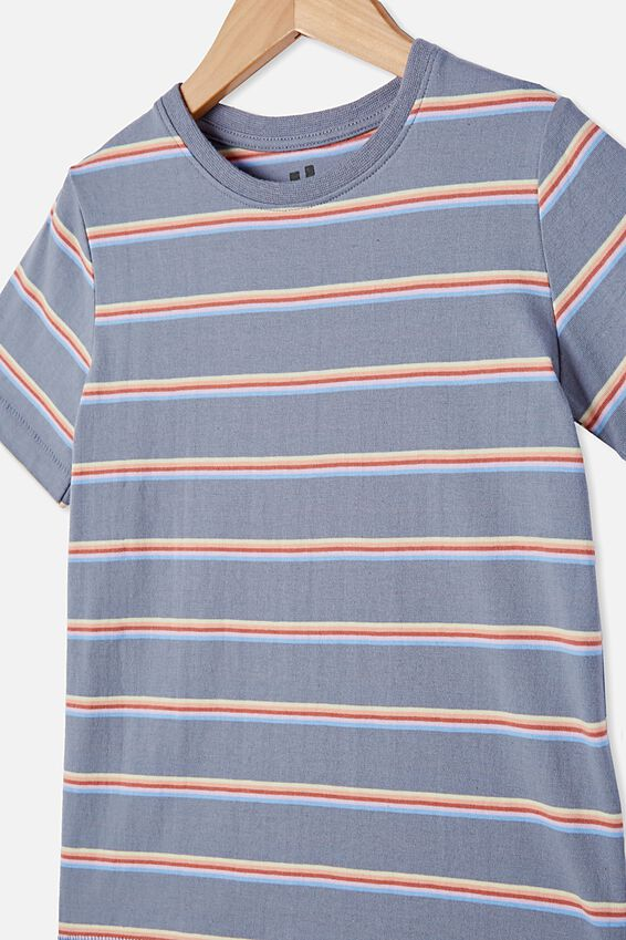 Core Ss Tee, STEEL/RAINBOW STRIPE