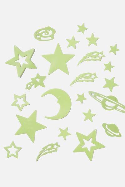 Sticker Pack, GLOW IN THE DARK STARS