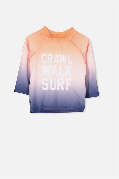 Nb Fraser Ls Rashie, ORANGE BURST/CRAWL WALK