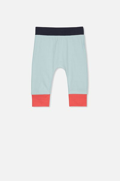 Mini Legging, BARBER BLUE/COLOUR BLOCK
