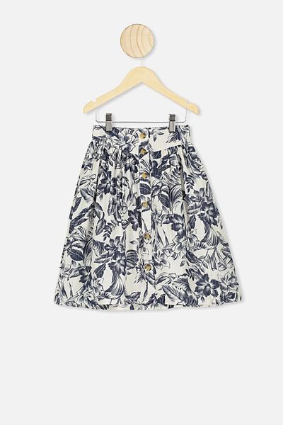 Juniper Skirt, DARK VANILLA/TROPICAL FLORAL