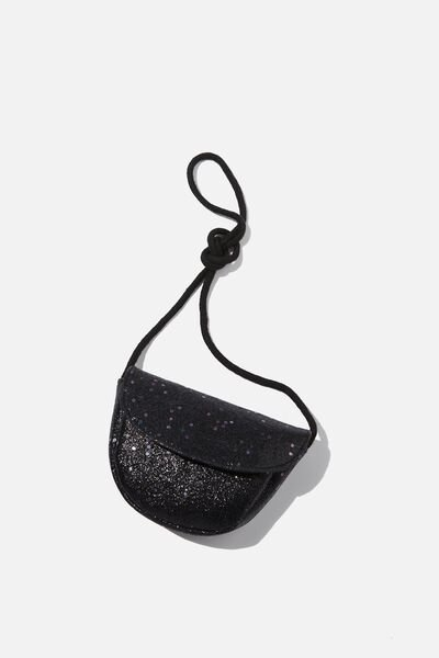 Crossbody Party Bag, BLACK GLITTER