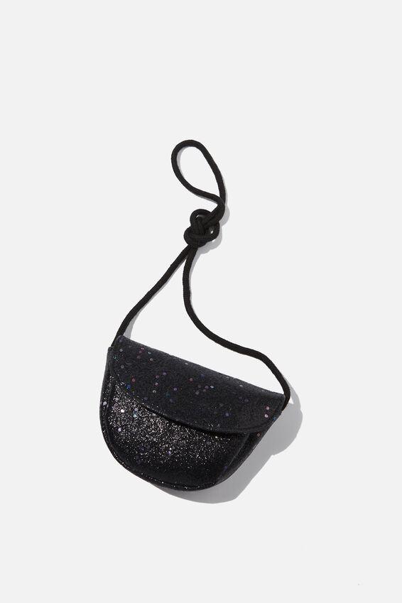 Crossbody Party Bag, BLACK GLITTER
