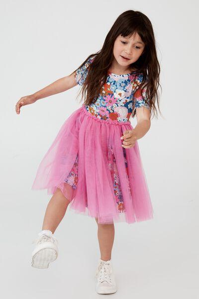 Ivy Dress Up Dress, BOHO FLORAL/PINK GERBERA