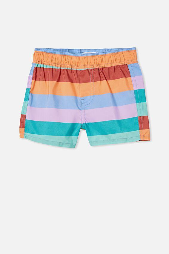 Baby Boardshorts, DUSK BLUE/MULTI STRIPE