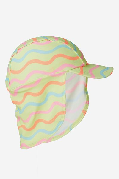 Swim Hat, RAINBOW/WAVE PRINT