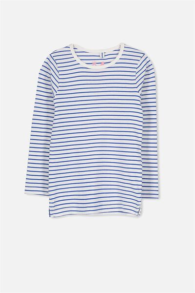 Jessie Crew, VANILLA/PRINCESS BLUE STRIPE