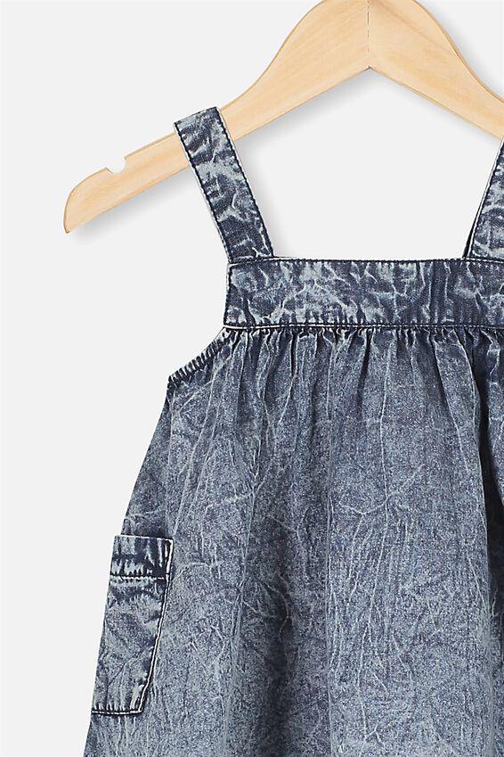 Penny Pinafore Dress, CHAMBRAY WASH