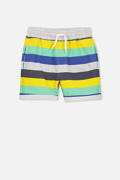 Henry Slouch Short, LT GREY/MULTI STRIPE