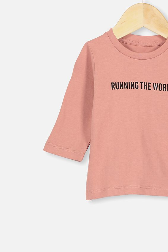 Jamie Long Sleeve Tee, CLAY PIGEON/RUNNING THE WORLD