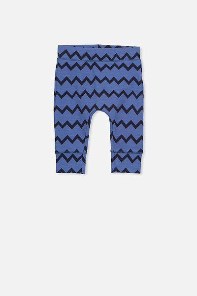 Mini Legging, WATERBLUE/INKY ZIG ZAG