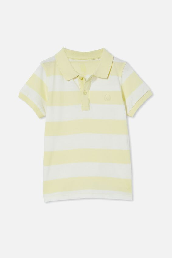 Kendricks Polo, LEMONADE/VANILLA BLOCK STRIPE/PEACE
