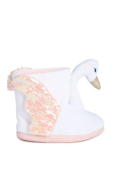 Novelty Slipper Boot, SWAN