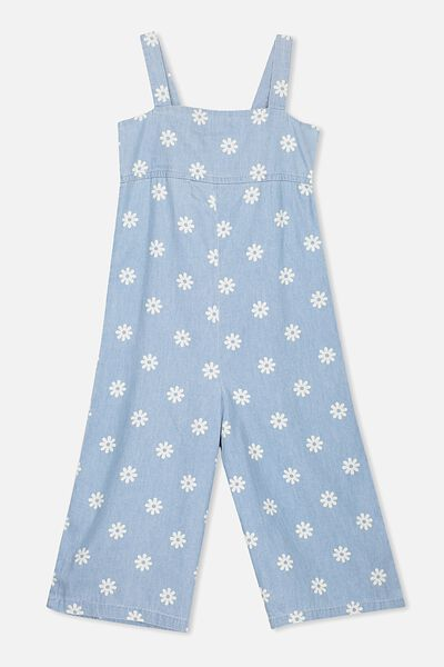 Zoe Long Jumpsuit, BLEACH WASH/DAISY