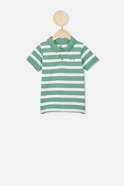 Kendricks Polo, MALACHITE GREEN/STRIPE RHINO