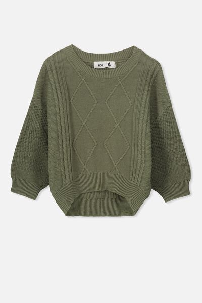 Deonne Knit Jumper, FOUR LEAF CLOVER