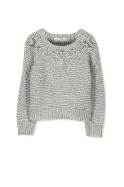 Taylor Crop Knit, MID GREY