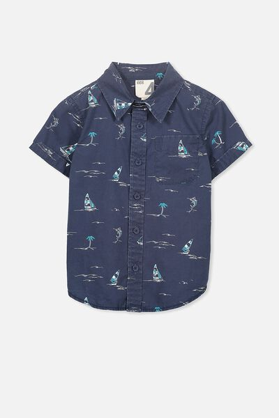 Jackson Short Sleeve Shirt, WASHED NAVY SAILING