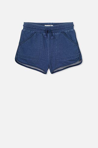 Nina Knit Short, MID BLUE WASH