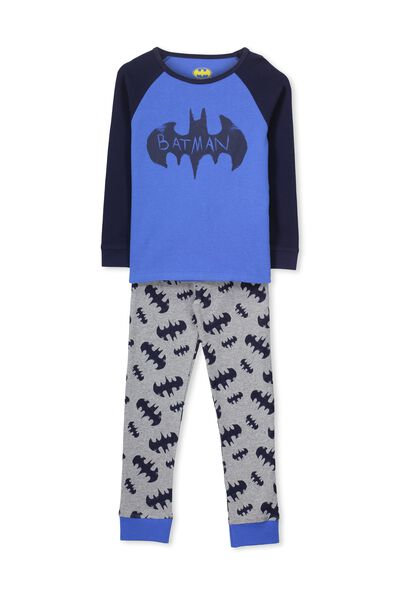 Jacob Boys Long Sleeve Raglan Pyjama Set, BATMAN SKETCHY LOGO