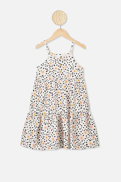 Mackenzie Sleeveless Dress, DARK VANILLA/LEOPARD DAISY