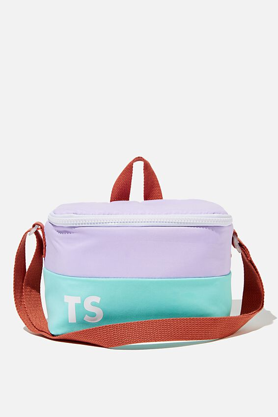 Kids Lunch Bag - Personalised, PALE VIOLET/BLUE
