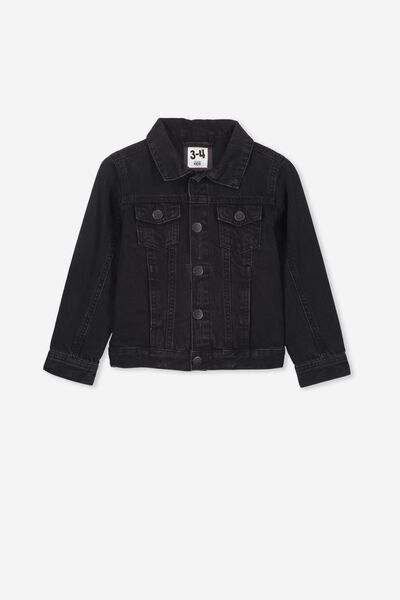 Quinn Denim Jacket, BLACK WASH