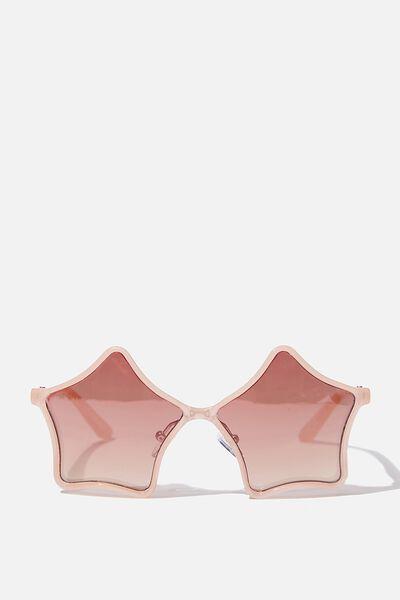 Kids Retro Sunglasses, MILKY PINK STAR