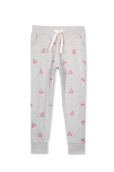 Kikii Sweatpant, LIGHT GREY MARLE/SMILING CHERRY