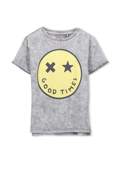 Max Short Sleeve Tee, GOOD TIMES SMILEY/DS