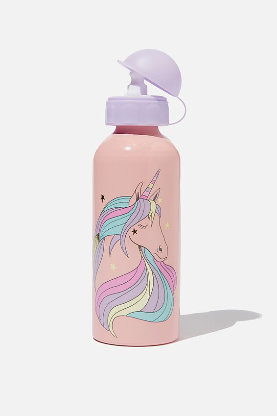 Aluminium Drink Bottle, 70s UNICORN