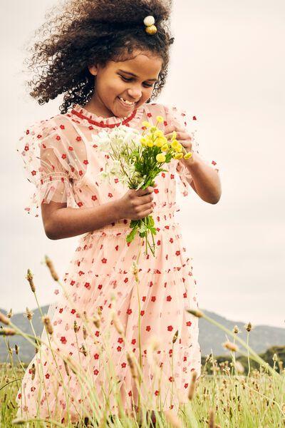 Alice Mccall/Short Sleeve Dress, PEACH