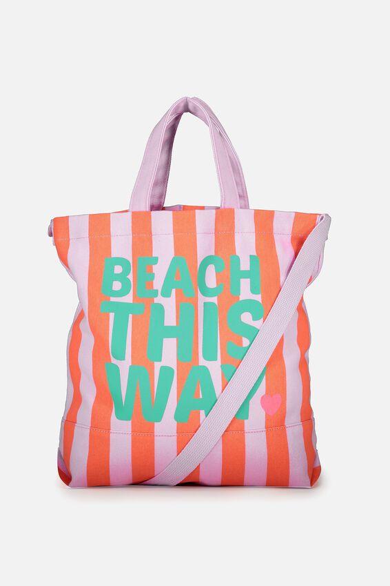 Personalised Printed Beach Tote, BEACH THIS WAY