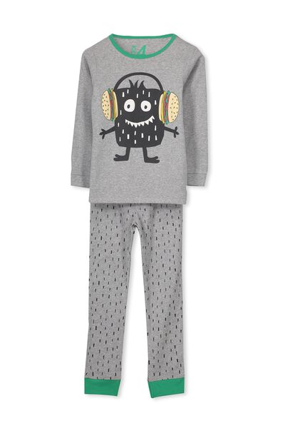 Harry Ls Boys Pj Set, BURGER MONSTER