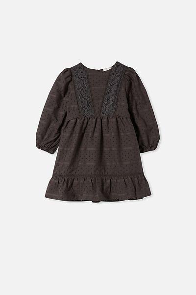 Madison Long Sleeve Dress, PHANTOM