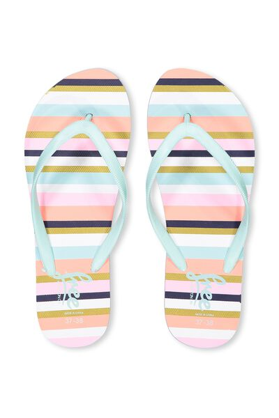 Free Flip Flops, G TROPICAL STRIPES