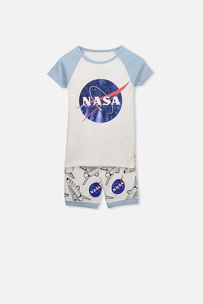 Ben Boys Short Sleeve Raglan PJ Set, NASA
