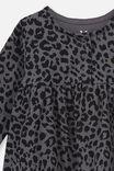 Molly Long Sleeve Dress, RABBIT GREY SUMMER OCELOT