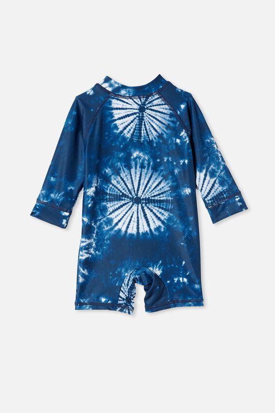 Cameron Long Sleeve Swimsuit, INDIGO TIE DYE