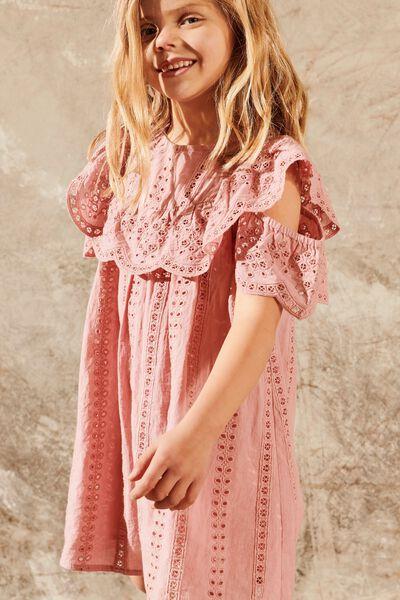 Rosie Cold Shoulder Dress, SWEET BLUSH
