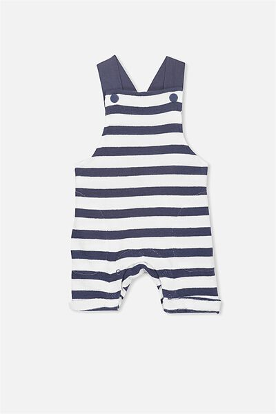 Timmy Short Leg All In One, VANILLA/NAVY STRIPE