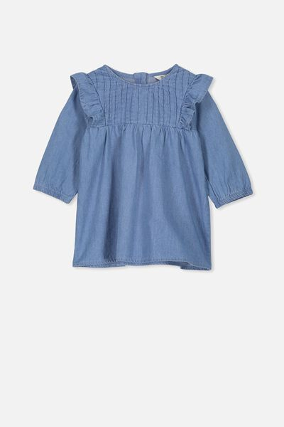 Matisse Long Sleeve Dress, MID BLUE WASH