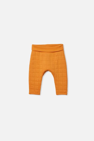 Rory Quilted Trackpant, BURNT SQUASH