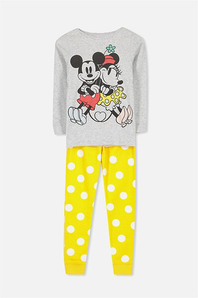 Kristen Girls Long Sleeve PJ Set, LCN MICKEY AND MINNIE