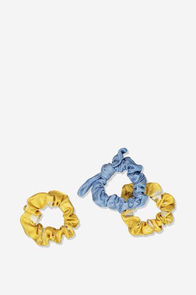 Mini Scrunchie, HONEY GOLD SUNNY FACES