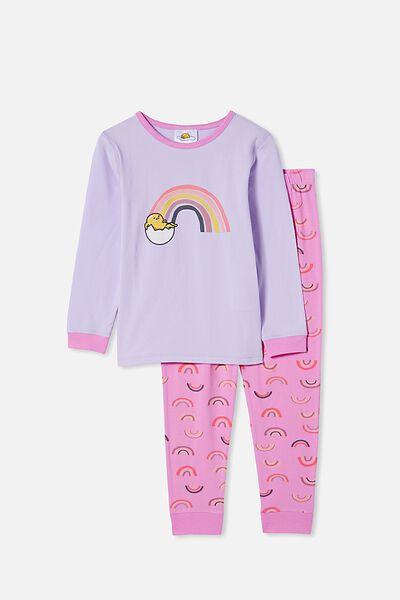 Florence Long Sleeve Pyjama Set Licensed, LCN SAN GUDETAMA/VINTAGE LILAC