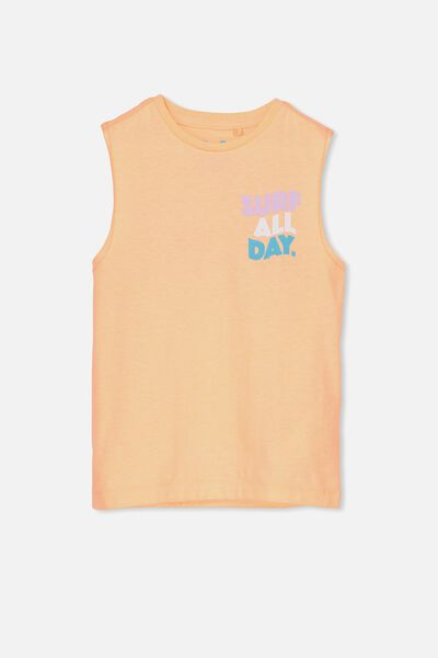 Orson Tank, TROPICAL ORANGE/SURF ALL DAY MUSCLE