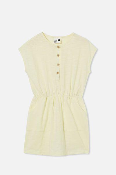 Sigrid Short Sleeve Dress, LEMONADE