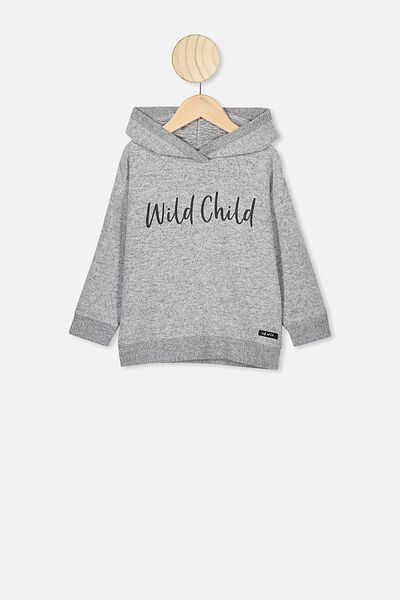 Super Soft Hoodie, GREY MARLE/WILD CHILD